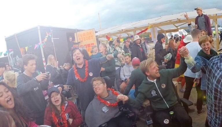 Roskilde Festival set fra en kørestol
