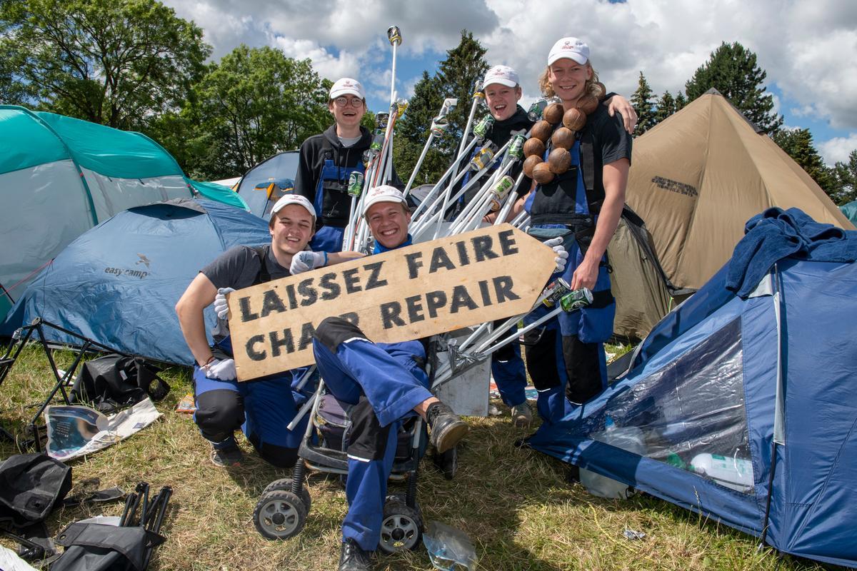 Vi fandt tre camps, der havde taget klimabrillerne med på festival